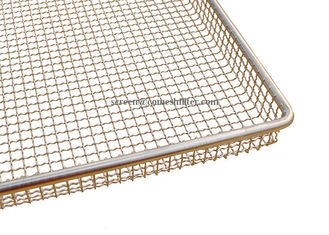 Polished Stackable Woven Wire Mesh Tray For Fruits And Vegetables Drying